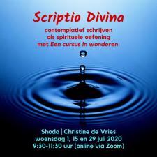 Scriptio Divina, bijeenkomst 29 juli 2020