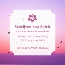 Schrijven met Spirit (mini-retraite)