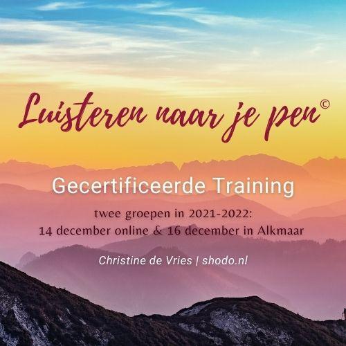 Gecertificeerde Training Luisteren naar je pen<sup>©</sup> in Alkmaar óf Online